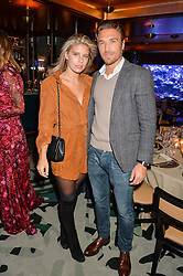 NATASHA OAKLEY and GILLES SOUTEYRAND at a dinner hosted by Creme de la Mer to celebrate the launch of Genaissance de la Mer The Serum Essence held at Sexy Fish, Berkeley Square, London on 21st January 2016.