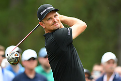 May 4, 2019 - Charlotte, NC, U.S. - CHARLOTTE, NC - MAY 04: Justin Rose plays his shot from the third tee during round three of the Wells Fargo Championship on May 04, 2019 at Quail Hollow Club in Charlotte,NC. (Photo by Dannie Walls/Icon Sportswire) (Credit Image: © Dannie Walls/Icon SMI via ZUMA Press)