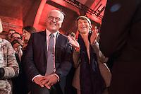 11 FEB 2017, BERLIN/GERMANY:<br /> Frank-Walter Steinmeier (L), SPD, Kandidat fuer das Amt des Bundespraesidenten, und Elke Buedenbender (R), Ehefrau von Steinmeier, waehrend einem Empfang der SPD anl. der Bundesversammlung, Westhafen Event und Convention Center<br />  IMAGE: 20170211-03-035<br /> KEYWORDS: Elke Büdenbender