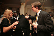 Ade and Hugo Brassey, The Essential Party Guide Evening of Golden Glamour. The Ballroom, Mandarin oriental, Hyde Park. 27 March 2007. -DO NOT ARCHIVE-© Copyright Photograph by Dafydd Jones. 248 Clapham Rd. London SW9 0PZ. Tel 0207 820 0771. www.dafjones.com.