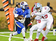 North Myrtle Beach Chiefs Nyliek Livingston (7) rushes against the AC Flora Falcons during the first half the state championship game at Benedict College.