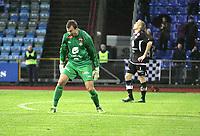 Tippeligaen 2014<br /> Sandnes Ulf v Sogndal 19.10.2014<br /> Sandnes Stadion, Sandnes, Norge.<br /> Foto. Simon Rogers, Digitalsport.<br /> <br /> Sandnes Ulf. <br /> Sogndal. Nils Udjus, Taijo Teniste