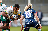 Rugby Union - 2020 / 2021 Gallagher Premiership - Round 4 - Sale Sharks vs London Irish - A J Bell Stadium<br /> <br /> Albert Tuisue of London Irish and Faf de Klerk of Sale Sharks at A J Bell Stadium<br /> <br /> Credit COLORSPORT/LYNNE CAMERON