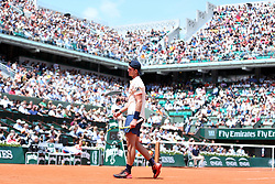 PARIS, June 4, 2018  Maximilian Marterer of Germany reacts during the men's singles 4th round match against Rafael Nadal of Spain at the French Open Tennis Tournament 2018 in Paris, France, on June 4, 2018. Maximilian Marterer lost 0-3.  wll) (Credit Image: © Luo Huanhuan/Xinhua via ZUMA Wire)