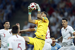 (l-r) Pepe of Portugal, goalkeeper Rui Patricio of Portugal, Jose Fonte of Portugal during the 2018 FIFA World Cup Russia round of 16 match between Uruguay and at the Fisht Stadium on June 30, 2018 in Sochi, Russia