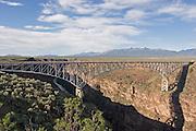 Bridge over the Rio Grande River, Taos County, New Mexico