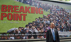 "2016-06-16 Remain disrupt Farage launch of UKIP ""Breaking Point"" campaign"
