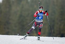 Baiba Bendika (LAT) during Women 15km Individual at day 5 of IBU Biathlon World Cup 2018/19 Pokljuka, on December 6, 2018 in Rudno polje, Pokljuka, Pokljuka, Slovenia. Photo by Ziga Zupan / Sportida
