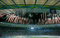 Photo: Glyn Thomas.<br />Italy v France. FIFA World Cup 2006 Final. 09/07/2006.<br /> Fireworks go off over the Olympic Stadium in Berlin as Italy are crowned World Champions.