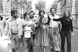 File photo dated 18/08/1984 of Jeremy Corbyn (left) with (second left to right) Cllr Jim King, Kent miner Malcolm Pitt, MEPs Christine Crawley and Richard Balfe and Young Liberal chairman Janice Turner, the organisers of a 'British Out of Ireland' march walking down Downing Street carrying a black wreath in memory of Sean Downes, killed in Belfast the previous week.