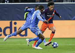 October 2, 2018 - Sinsheim, Germany - Leroy Sane 19; seen in ation during the UEFA Champions League group F football match between TSG 1899 Hoffenheim and Manchester City at the Rhein-Neckar-Arena. (Credit Image: © Elyxandro Cegarra/SOPA Images via ZUMA Wire)