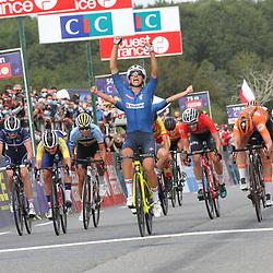 26-08-2020: Wielrennen: EK wielrennen: Plouay<br /> De Italiaanse Elisa Balsamo (Italy) pakt de titel bij de vrouwen onder de 23 jaar voor Lonneke Uneken (Netherlands) en Deense Emma Norsgaard Jorgensen (Denmark)