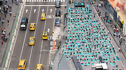 "Large yoga session in Times Square in honor of the solstice, in New York City, New York on June 21, 2017.  See more images by clicking on ""Image Galleries +"" at the top left of this page and then selecting ""Yoga in Times Square"""