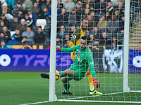 Football - 2017 / 2018 Premier League - Swansea City vs. Brighton & Hove Albion<br /> <br /> Glenn Murray of Brighton and Hove Albion scores his team's first goal, at The Liberty Stadium.<br /> <br /> COLORSPORT/WINSTON BYNORTH