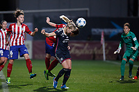 Olympique Lyonnais´s Hegerberg scores a goal (0-2) during UEFA Women´s Champions League soccer match between Atletico de Madrid and Olympique Lyonnais, in Madrid, Spain. November 11, 2015. (ALTERPHOTOS/Victor Blanco)