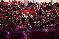 February 21, 2019 - TimrÂ, SVERIGE - 190221 TimrÅ's supportrar infÅ¡r ishockeymatchen i SHL mellan TimrÅ' och VÅxjÅ¡ den 21 februari 2019 i TimrÅ (Credit Image: © P€R Olert/Bildbyran via ZUMA Press)