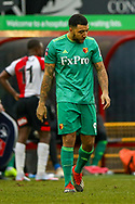 Watford forward Troy Deeney (9) comes on in the second half during the The FA Cup 3rd round match between Woking and Watford at the Kingfield Stadium, Woking, United Kingdom on 6 January 2019.