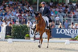 AMBROS Harald (AUT), Lexikon<br /> Luhmühlen - LONGINES FEI Eventing European Championships 2019<br /> Teilprüfung Dressur 4. Teil CCI4*<br /> Dressage CH-EU-CCI4*-L: 4th part<br /> 30. August 2019<br /> © www.sportfotos-lafrentz.de/Stefan Lafrentz