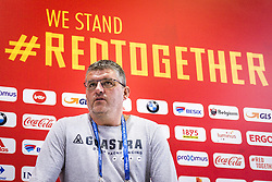 July 4, 2018 - Dedovsk, RUSSIA - Former Red Devil and TV consultant Philippe Albert pictured during a press conference after a training session of Belgian national soccer team the Red Devils in Dedovsk, near Moscow, Russia, Wednesday 04 July 2018. The Devils qualified for the quarter-finals of the FIFA World Cup 2018, next Friday they will meet Brazil. BELGA PHOTO LAURIE DIEFFEMBACQ (Credit Image: © Laurie Dieffembacq/Belga via ZUMA Press)