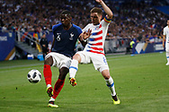 Paul Pogba of France and Wil Trapp of USA during the 2018 Friendly Game football match between France and USA on June 9, 2018 at Groupama stadium in Decines-Charpieu near Lyon, France - Photo Romain Biard / Isports / ProSportsImages / DPPI
