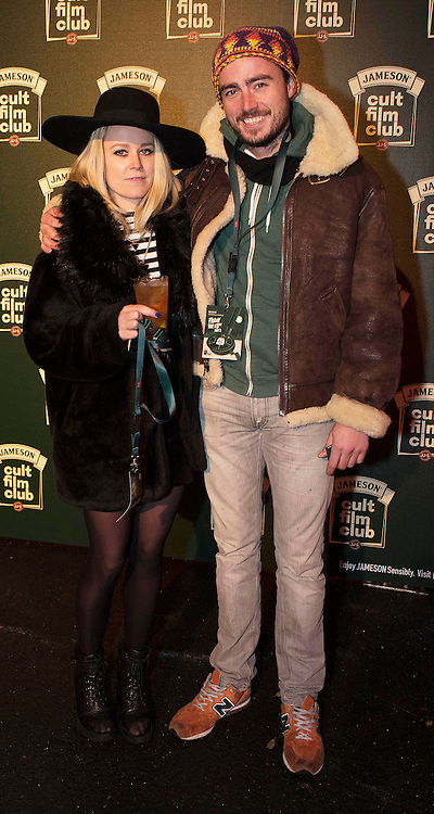 Sinead Coughlan Galway City and Nico Foyle, Clifden <br /> at the Jameson Cult Film Club screening of Friday the 13th Part 2 in the Black Box Theatre in Galway.  Photo:Andrew Downes