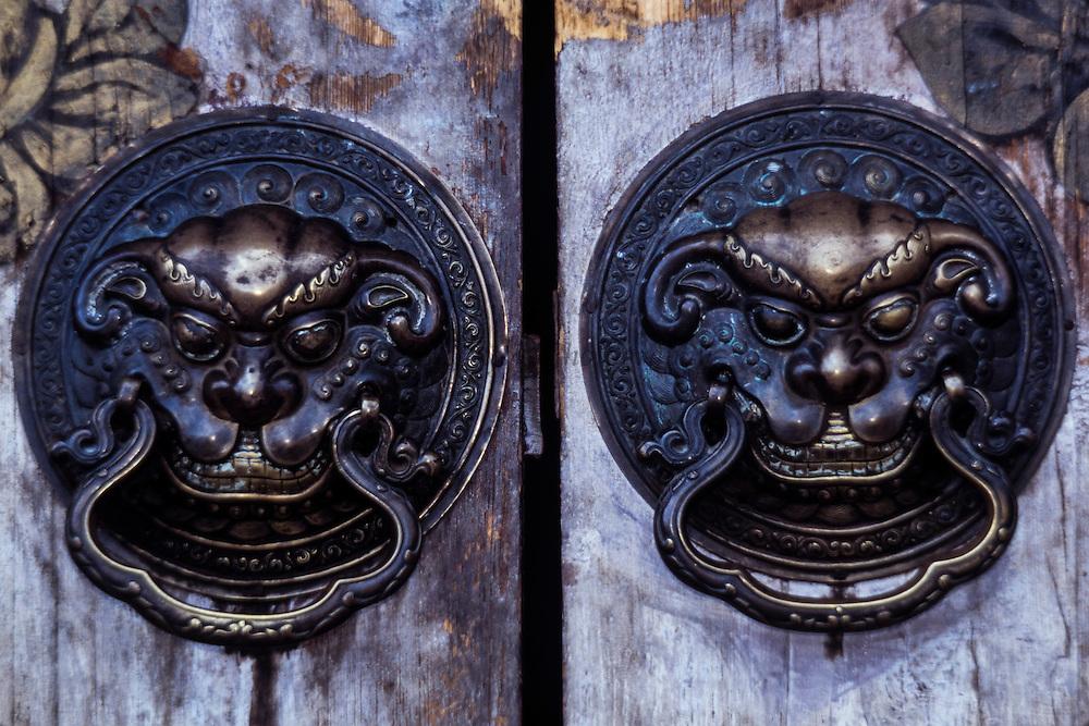 Door handles<br /> Erdene Zuu Monastery<br /> Ovorkhangi, Kharkhorin<br /> Mongolia