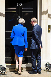 Prime Minister Theresa May speaks to the media at number 10 Downing Street, London, after an audience with the Queen. Picture date: Friday June 9th, 2017. Photo credit should read: Matt Crossick/ EMPICS Entertainment.