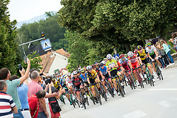 Peloton during 3rd Stage of 25th Tour de Slovenie 2018 cycling race between Slovenske Konjice and Celje (175,7 km), on June 15, 2018 in  Slovenia. Photo by Vid Ponikvar / Sportida