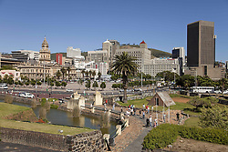 June 3, 2016 - Cityscape  with Castle of Good Hope moat and the City Hall,  Cape Town, Western Cape, South Africa (Credit Image: © AGF via ZUMA Press)