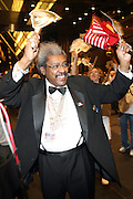 Don King as he leaves the Don King and Nike presentation(press conference) ' Grapple in the Apple '  with Roger Federer and Raphael Nadal at The Madarin Oriental Hotel (North Salon) on August 21, 2008 in New York City ****(EXCLUSIVE)****