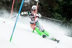 """Mina Fuerst Holtmann (NOR) competes during 1st Run of FIS Alpine Ski World Cup 2017/18 Ladies' Slalom race named """"Snow Queen Trophy 2018"""", on January 3, 2018 in Course Crveni Spust at Sljeme hill, Zagreb, Croatia. Photo by Vid Ponikvar / Sportida"""