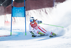 February 15, 2018 - Pyeongchang, South Korea - RICARDA HAASER of Austria on her first run at the Womens Giant Slalom event Thursday, February 15, 2018 at the Yongpyang Alpine Centerl at the Pyeongchang Winter Olympic Games.  Photo by Mark Reis, ZUMA Press/The Gazette (Credit Image: © Mark Reis via ZUMA Wire)