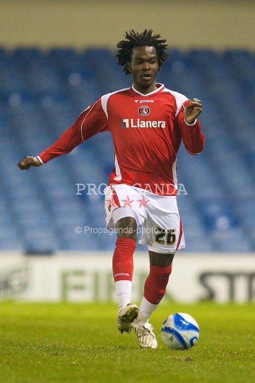 SHEFFIELD, ENGLAND - Tuesday, February 12, 2008: Charlton Athletic's Kelly Youga in action against Sheffield Wednesday during the League Championship match at Hillsborough Stadium. (Photo by David Rawcliffe/Propaganda)