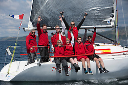 Final days' racing at the Silvers Marine Scottish Series 2016, the largest sailing event in Scotland organised by the  Clyde Cruising Club<br /> <br /> Racing on Loch Fyne from 27th-30th May 2016<br /> <br /> Class 3, winner, GBR6521, Trastada, Roddy Angus/D Challis, FYC, Half Tonner<br /> <br /> Credit : Marc Turner / CCC<br /> For further information contact<br /> Iain Hurrel<br /> Mobile : 07766 116451<br /> Email : info@marine.blast.com<br /> <br /> For a full list of Silvers Marine Scottish Series sponsors visit http://www.clyde.org/scottish-series/sponsors/