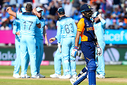 Virat Kohli of India cuts a dejected figure after getting out to Liam Plunkett of England - Mandatory by-line: Robbie Stephenson/JMP - 30/06/2019 - CRICKET - Edgbaston - Birmingham, England - England v India - ICC Cricket World Cup 2019 - Group Stage