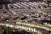 San Francisco, California. Daly City tract homes.