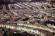 San Francisco, California. Daly City tract homes.