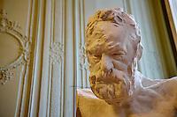 France, Paris (07), musée Rodin, 77 rue de Varenne, Victor Hugo, Buste Heroic // France, Paris, Rodin museum, Heroic Bust of Victor Hugo