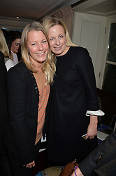 Left to right, sisters DAVINA HARBORD and ASTRID HARBORD at a party hosted by Lady Kinvara Balfour, Lavinia Brennan and Lady Natasha Rufus Isaacs to celebrate the Beulah French Sole Collaboration in aid of the UN Blue Heart Campaign, held at George, 87-88 Mount Street, London on 10th December 2013.