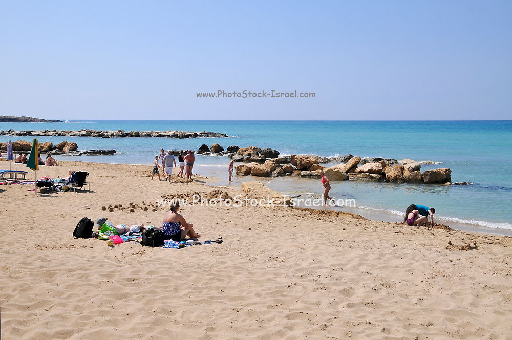 Resort beach. Photographed in Paphos, Cyprus