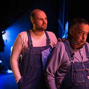 Art Markus (right) and his drama coach Jeremiah Henriksen, Scottsdale, Arizona