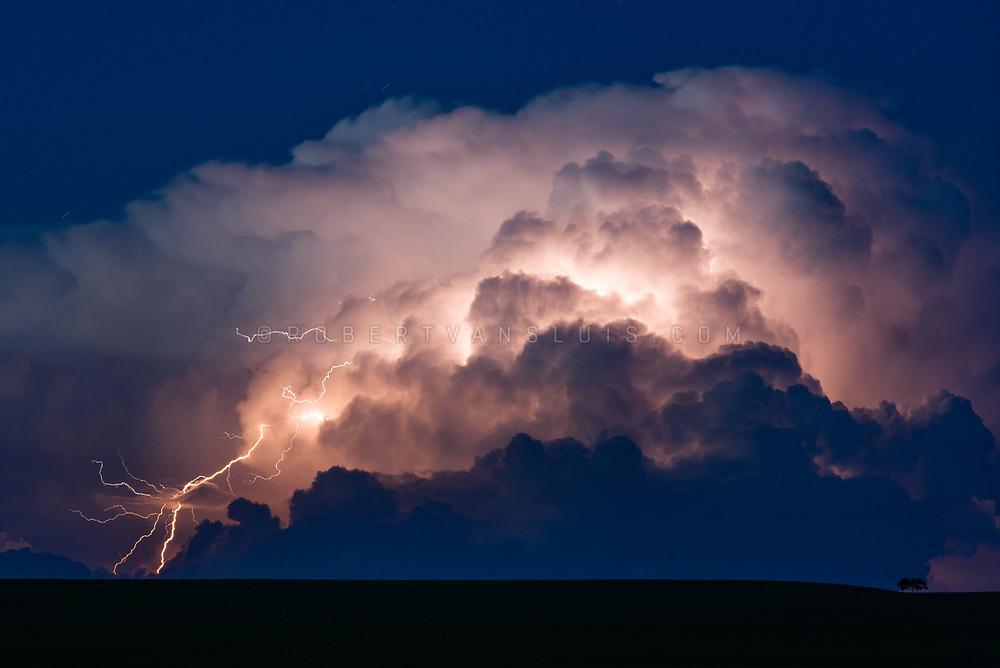Lighting strike from a cloud in Bulgan Province, Mongolia. Photo © Robert van Sluis - www.robertvansluis.com