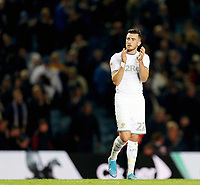 Leeds United's Jack Harrison applauds the fans at the final whistle<br /> <br /> Photographer Rich Linley/CameraSport<br /> <br /> The EFL Sky Bet Championship - Tuesday 1st October 2019  - Leeds United v West Bromwich Albion - Elland Road - Leeds<br /> <br /> World Copyright © 2019 CameraSport. All rights reserved. 43 Linden Ave. Countesthorpe. Leicester. England. LE8 5PG - Tel: +44 (0) 116 277 4147 - admin@camerasport.com - www.camerasport.com