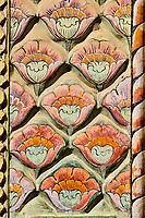 Inde, Rajasthan, Jaipur la ville rose, le City Palace, le Pitam Niwas Chowk, la porte des Roses // India, Rajasthan, Jaipur the Pink City, the City Palace, the Pitam Niwas Chowk, Roses door