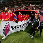 Galatasaray's players during their Turkish Super League soccer match Galatasaray between Istanbul Basaksehir at the AliSamiYen Spor Kompleksi TT Arena at Seyrantepe in Istanbul Turkey on Saturday, 14 March 2015. Photo by Aykut AKICI/TURKPIX