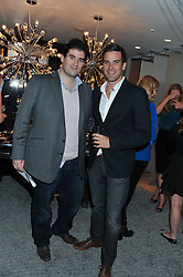 Left to right, GETHIN JONES and ZAFAR RUSHDIE at the Goode & Son collection showcase in the E Wow Suite, W London, Leicester Square, London on 6th October 2011.