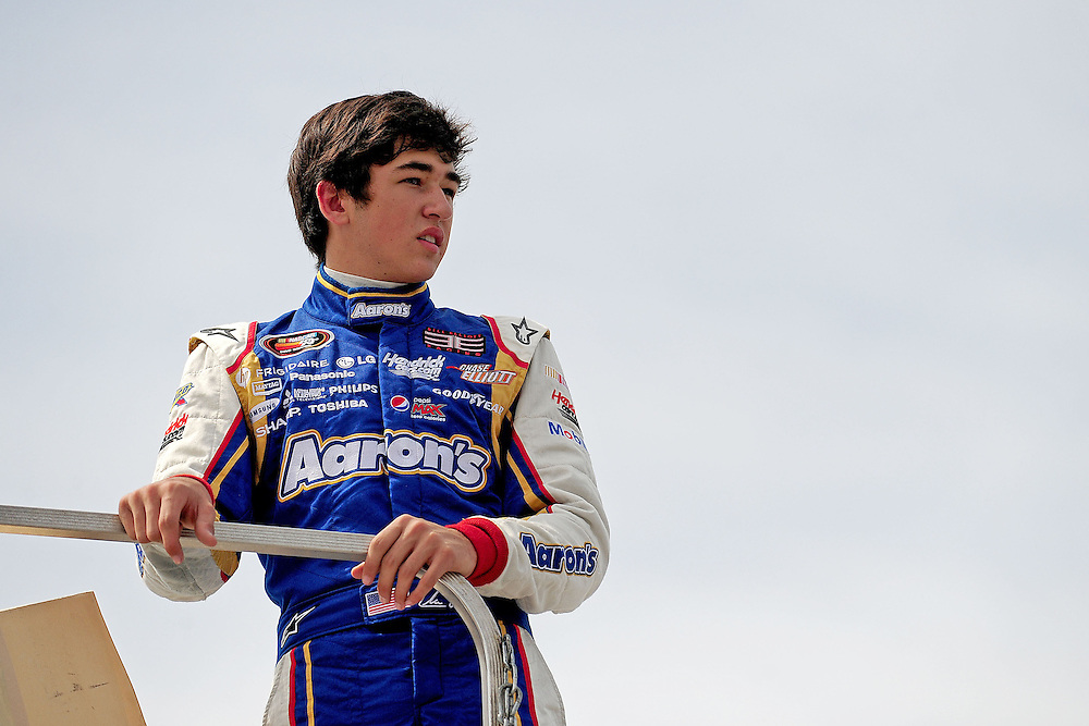 JEFFERSON, GA - JUNE 9, 2012:  Chase Elliott, driver of the #9 Chevrolet during practice for the NASCAR K&N Pro Series East Slack Auto Parts 150 held at Gresham Motorsports Park in Jeffereson, GA on June 9, 2012. Photo by Kevin Liles/kevindliles.com