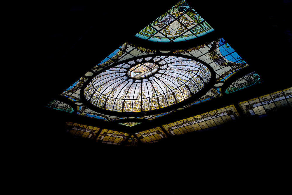 Art Deco Stained Glass Roof