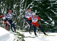 ◊Copyright:<br />GEPA pictures<br />◊Photographer:<br />Mario Kneisl<br />◊Name:<br />Bjoergen<br />◊Rubric:<br />Sport<br />◊Type:<br />Ski nordisch, Nordische Kombination<br />◊Event:<br />FIS Nordische SKI-Weltmeisterschaft, WM 2005, 15 km Verfolgung, Damen<br />◊Site:<br />Oberstdorf, Deutschland<br />◊Date:<br />19/02/05<br />◊Description:<br />Marit Bjoergen (NOR), Natalia Baranova-Masolkina (RUS), Larisa Kurkina (RUS), Oxana Jatskaja (KZA)<br />◊Archive:<br />DCSKN-1902054316<br />◊RegDate:<br />19.02.2005<br />◊Note:<br />8 MB - SU/SU - Nutzungshinweis: Es gelten unsere Allgemeinen Geschaeftsbedingungen (AGB) bzw. Sondervereinbarungen in schriftlicher Form. Die AGB finden Sie auf www.GEPA-pictures.com.<br />Use of picture only according to written agreements or to our business terms as shown on our website www.GEPA-pictures.com.