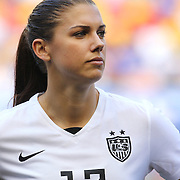 Alex Morgan, U.S. Women's National Team, during the U.S. Women's National Team Vs Korean Republic, International Soccer Friendly in preparation for the FIFA Women's World Cup Canada 2015. Red Bull Arena, Harrison, New Jersey. USA. 30th May 2015. Photo Tim Clayton